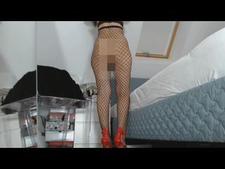 Arsch, Beine, Fetisch, Fussfetisch, Girl, Posing, Muschi, Solo, Netzstrümpfe